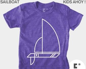 Kids TShirt, Sailboat, Boys TShirt, Girls TShirt, Baby Boy Clothes, Baby Girl Clothes, Sailing, Nautical, Boat, Toddler Shirt, Kids T-Shirt