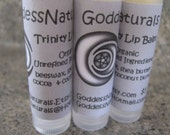 "12 ""Trinity"" (GoddessNaturals) Lip Balms (comes w/display box) 0.15 oz tubes"