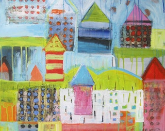 Original Painting by Michelle Daisley Moffitt........Rainy Village