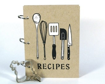 Blank Recipe Book - Utensils (5 in. x 7 in.) - Size No.2