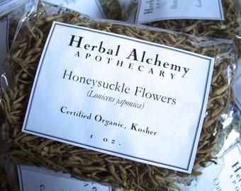 Organic Honeysuckle Flowers Herb Packet