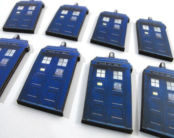 Wood Tardis - Collection of 10 Laser Cut Wood Pieces