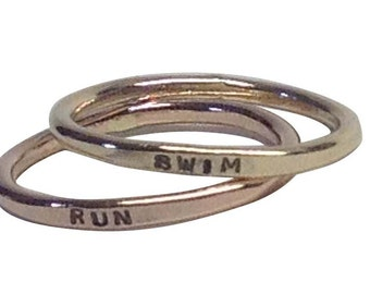 Mixed Metals Gold Filled Rose Gold Filled Personalized Rings