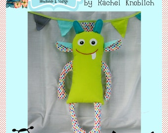 "Instant Download Eek the Alien Pattern for 16"" Plush Alien Monster Toy Doll DIY Sewing Tutorial"