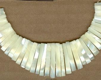 Mother of Pearl Mini Cleopatra Collar Maxi Fan 41pc Bead Set