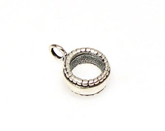 925 Sterling Silver Adapter Bead Large Hole for use on European Style Charm Bracelets up to 4mm CBW