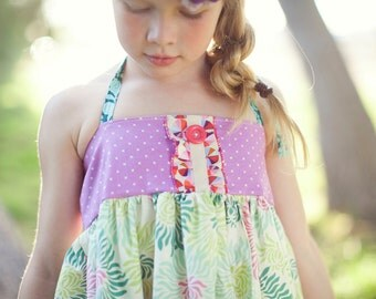 baby ellie halter top- halter top- spring top-girls spring outfit- matilda jane clothing- toddler top- tank top- easter clothing-