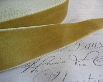 7/8 inch Mustard Velvet Ribbon
