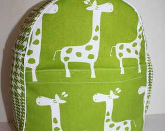 Handmade Giraffe Backpack for a Toddler -Ready to Ship-CLEARANCE TAKE 30% OFF- no coupon code needed