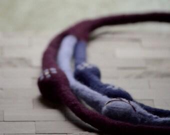 Multi Strand Felt Necklace