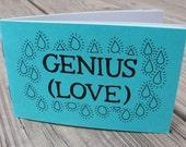 """Poetry Zine """"Genius (Love)"""" // illustration zine / relationships zine / love zine / art zine / mini zine"""