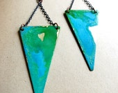 Patina Triangle Earrings