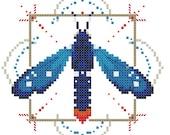 Polka dot wasp moth cross stitch pattern