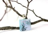 Fish Pendant- Southwest Necklace- Dichroic Fused Glass Pendant - Fused Glass Jewelry - Fused Dichroic Necklace - Dichroic Jewelry