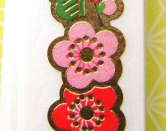 Japanese  Sticker Tape Strips Plum Blossoms