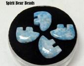 Sky Blue Lapis Medium Small Zuni Bear Beads you get Four in a Gem Jar 10mm X14mm