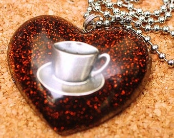 Coffee Lover - Resin Necklace