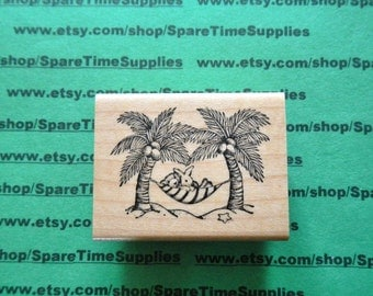 DEL-F677 Hammock Haven - Mounted Rubber Stamp