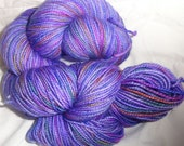 Fairy Sock Rae-Ella's Purple Rainbow hand dyed sock weight yarn 425 yds