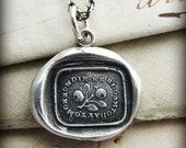 Bloom Today - inspirational necklace - wax seal necklace - a reminder to live life well - stop and smell the roses