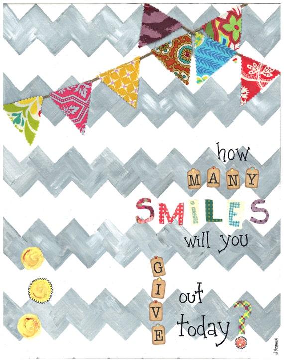 SMILES -  5x7 Wood Mounted Print