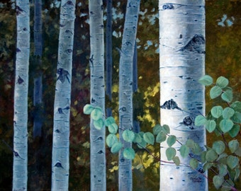Giclee Print Summer Quaking Aspen