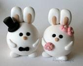 Custom Round Bunny Cake Topper