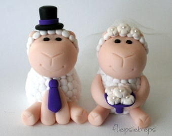 Custom Sheep Wedding Cake Topper