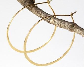 Simple Classic Round Hoop, Minimal Hoop Earring, 14k Gold Fill Hoop, Delicate Gold Hoops, Hypoallergenic Hoops - Classic Hoops