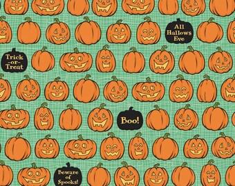 Witch Hazel Pumpkins Green - Fabric By Riley Blake - 9.95 A Yard