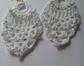 Crocheted Beaded Pineapple Earrings