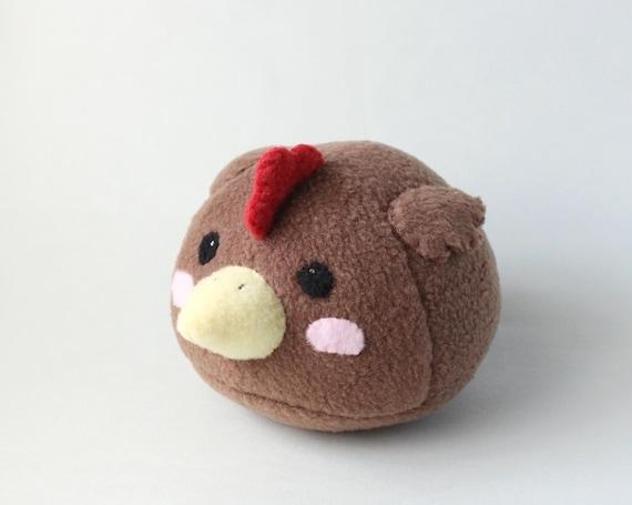 Handmade Plush Brown Chicken Kids Stuffed Toy