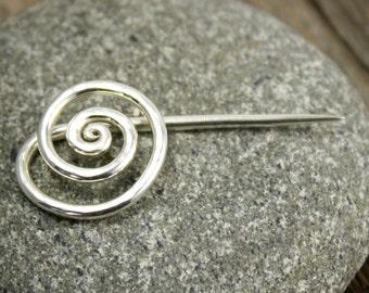 Spiral Brooch in Sterling Silver