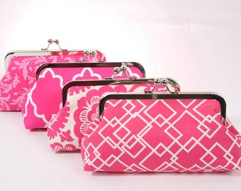 Pink clutch, pink bridal clutch bag, pink wedding clutch, bridesmaid clutch, bridesmaid gift, shabby chic clutch