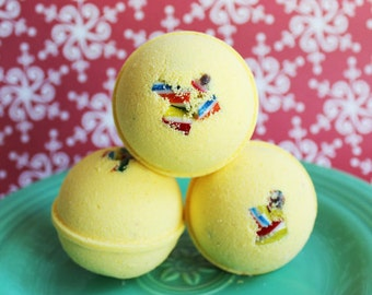 SALE--Bath Bomb Candy Shop - Yellow Bath, Candy, Teen Gift, Sweet Scented, Bath Fizzy, Candies, Kids Bath, Party Favors