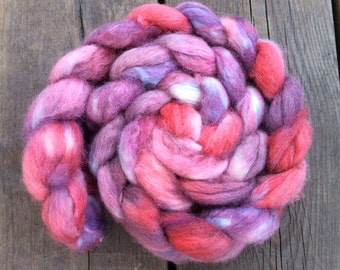 Cherries - hand dyed BFL/Trilobal 3.5 oz