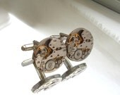 Steampunk Jewelry,Steampunk Mens round  identical Watch Cufflinks  Fathers Day Wedding Anniversary Vintage upcycled mens Cuff Links