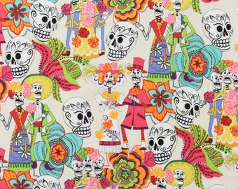 Alexander Henry, Los Novios in Tea Dye, Day of Dead collection, yard