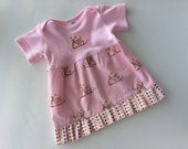 Girly Bicycle Baby Dress, Size 3 to 6 months