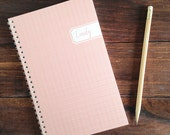 linen personalized notebook