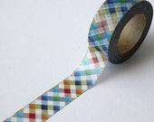 Rainbow Plaid Washi Tape