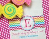 Personalized Candy Bags, Chevron candy bags, rainbow Favor bags,  Rainbow party favors, Candy Buffet, Birthday party, Sweets, Treats