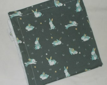 Charcoal Rabbits Minky Security Blanket Lovey - SALE