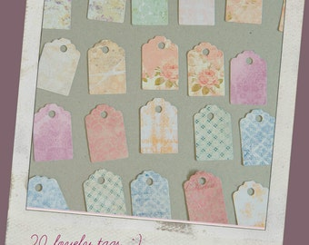 Easter gift tags, Easter tags, Spring wedding favor, Etiquette, Pastel wedding,