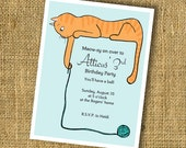 Cat Birthday Party Invitation (printable)