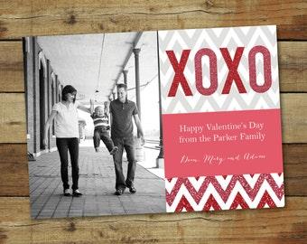 Glitter XOXO - Valentine's Day Photo Card