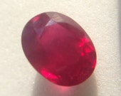 Gorgeous 2.97ct Glass Filled Natural Ruby, Oval Faceted Gemstone