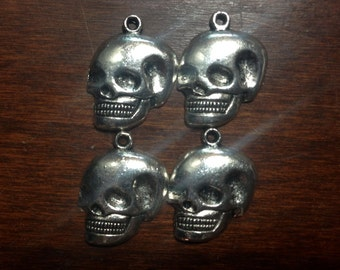 Skull Charms, Set of Four