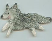 Mosaic Ceramic Tile or pin Porcelain Ceramic Wolf