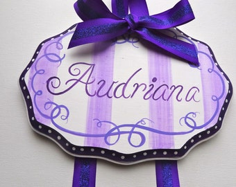 Personalized Elegant Hair Bow Holder  Choose Your Colors